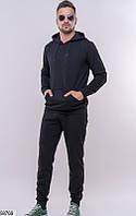 Костюм мужской спортивный темный,мужской темно-серый костюм,мужские спортивные штаны,одежда мужская зима
