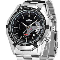 Winner Чоловічі класичні механічні годинник Winner Titanium Silver 1038