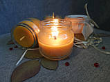 Воскові свічки з натурального воску в склянній баночці, фото 7