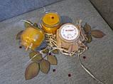 Воскові свічки з натурального воску в склянній баночці, фото 5