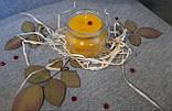Воскові свічки з натурального воску в склянній баночці, фото 4