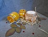Воскові свічки з натурального воску в склянній баночці, фото 2