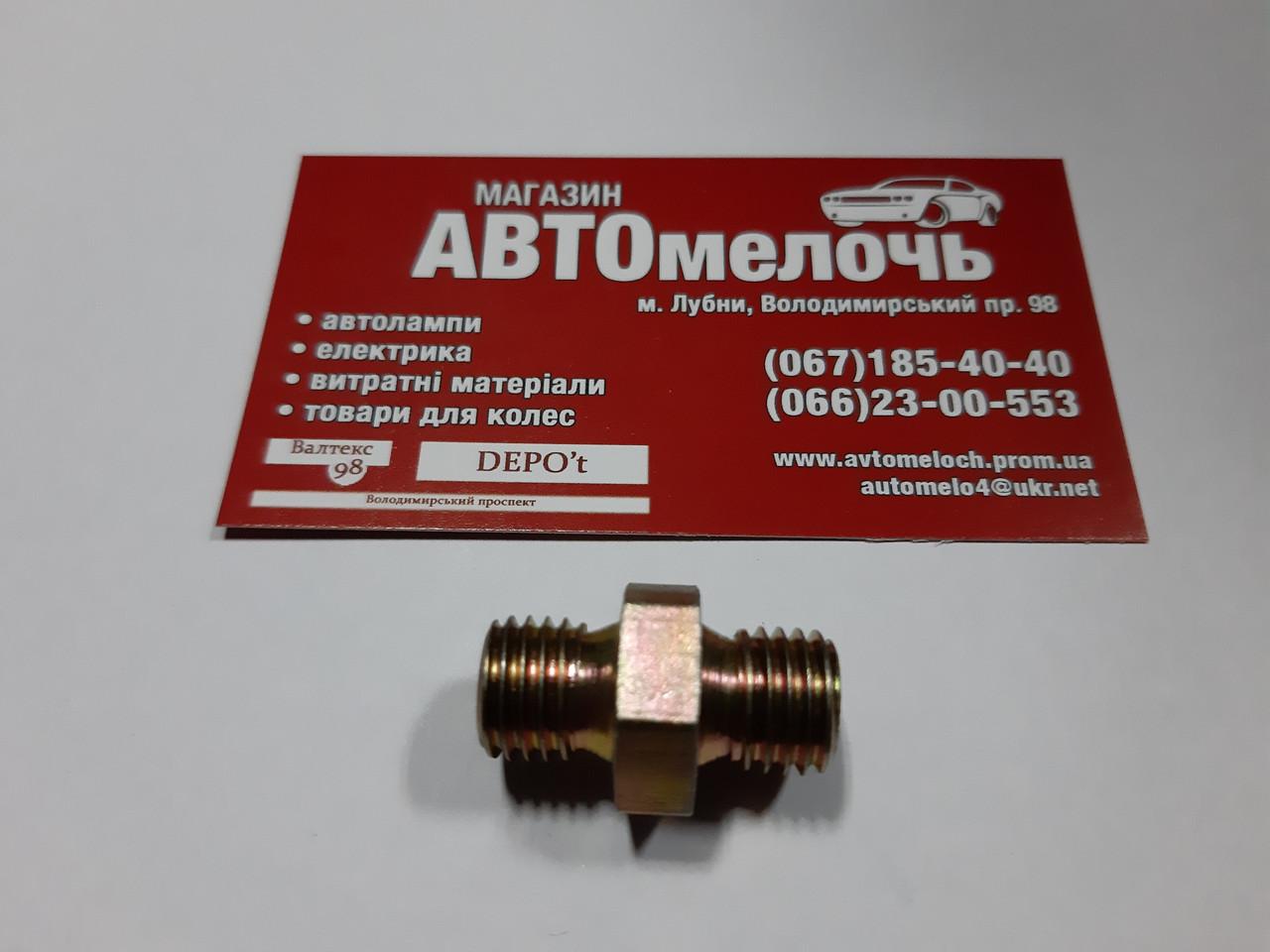 Соединитель резьбовойМ12х1.5под трубку пластиковую ключ на 17