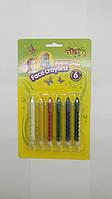 Карандаши, аквагрим для лица Face crayons 6 цветов детская косметика