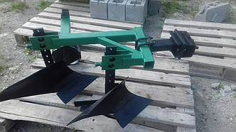 Плуг 2-х корпусный с опорным колесом ТМ ШИП для тяжелых мотоблоков