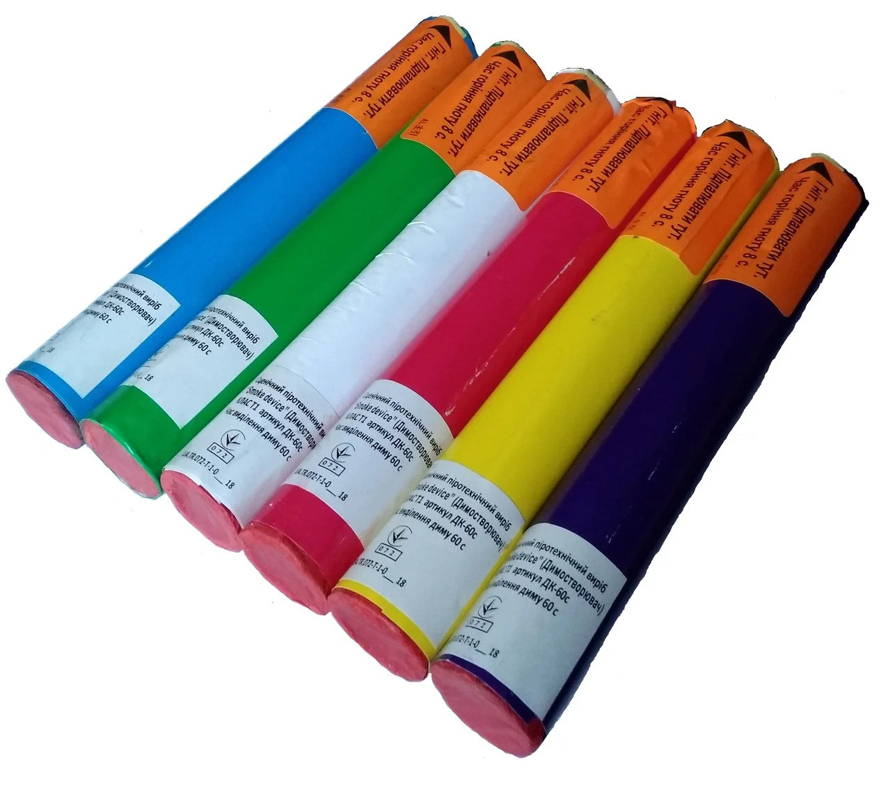 Цветной дым 6 цветов  ДК 60 с