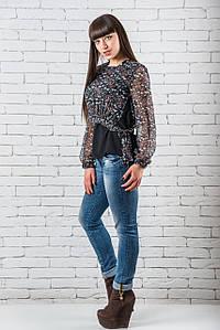 Модные  блузки и рубашки женские   36-42 черный