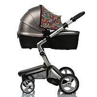 Солнцезащитный козырек на коляску с москитной сеткой Цветной