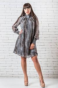 Модное платье  женское миди  36,42 змеиный принт