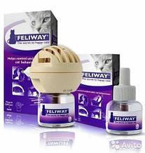 Feliway (Феливей) 48 мл - Корректор поведения для кошек, Комплект (электрический диффузор +1 флакон)