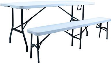 Комплект скалдной мебели Стенли столик+скамья пластиковые