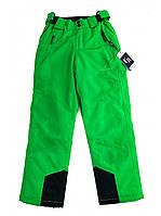 Детские салатовые лыжные брюки