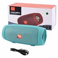 JBL Charge 3+ mini портативная колонка с Bluetooth FM MP3, black