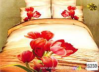 Комплект постельного белья  ELWAY сатин 3D 239
