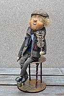 """Авторская, характерная кукла. """"Фима скрипач"""" (А01116)"""