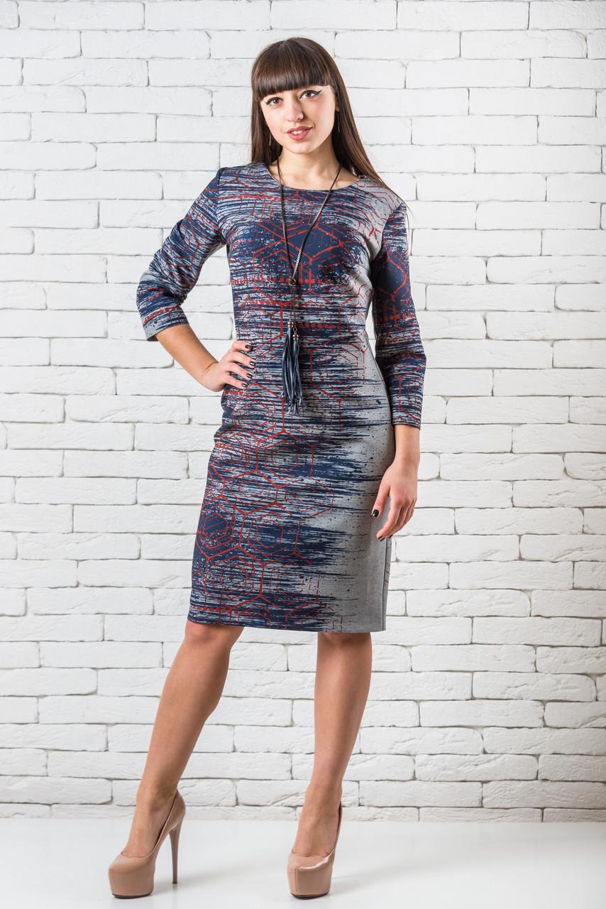 Стильное женское платье повседневное  38-44