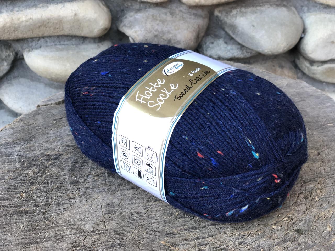 Носочная пряжа  Rellana Flotte Socke Tweed Classic 6f,150г/375м