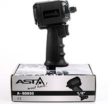 Гайковерт пневматический ASTA A-SD850 1/2' 850NM + комплект головок, фото 2