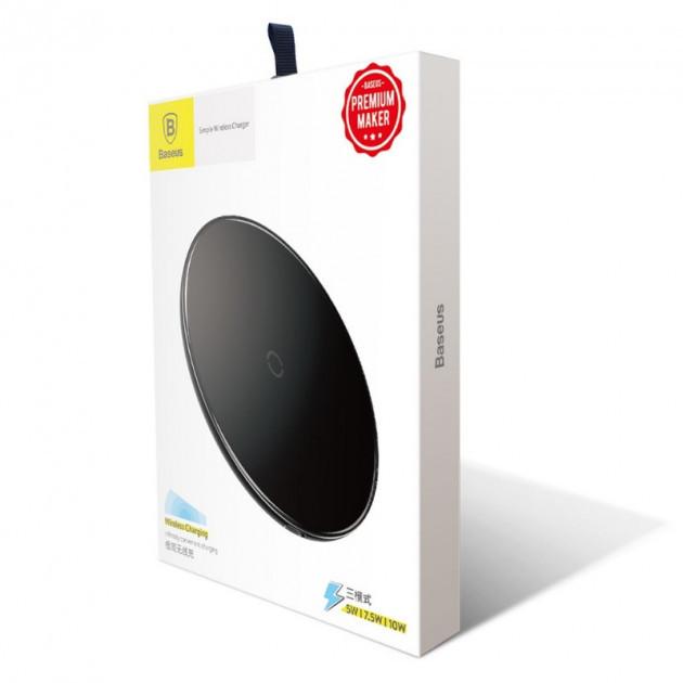 Беспроводное зарядное устройство Baseus Simple Wireless Charger (Black)