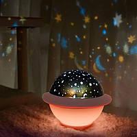 Проектор звездного неба Losso - детский ночник НЛО розовый