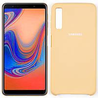 Чехлы U-Like Чехол силиконовый для Samsung A750 Galaxy A7 2018 Золотой (27644)