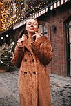 Жіноча модна шуба новинка з штучного хутра каракулю ()утепленгая, фото 7