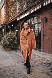 Женская модная шуба новинка из искусственного меха каракуля ()утепленгая, фото 6