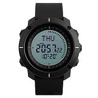 Skmei 1216 COMPASS  Черные мужские спортивные часы, фото 1