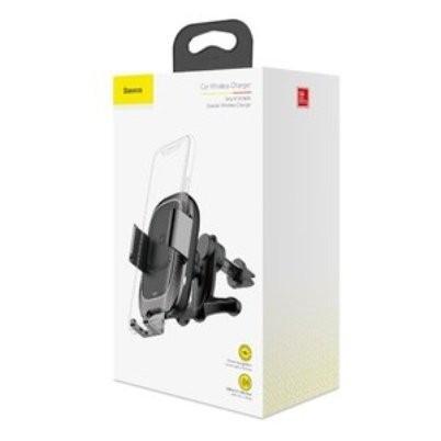 Аавтодержатель Baseus Smart Vehicle Bracket Wireless Charger Black