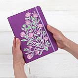 """Блокнот Ладна """"Ельфійські квіти"""" А5 фіолетовий, фото 3"""