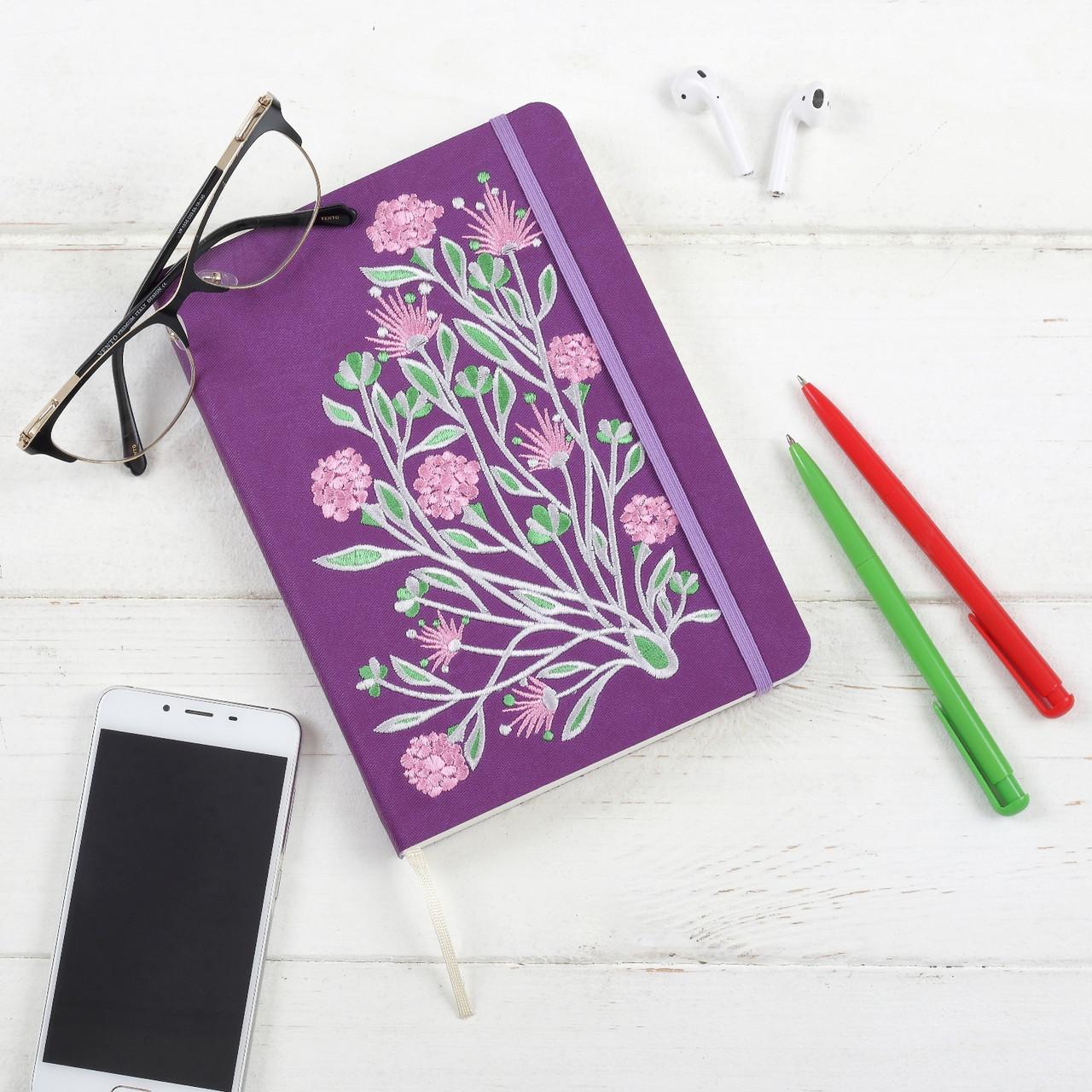 """Блокнот Ладна """"Ельфійські квіти"""" А5 фіолетовий"""