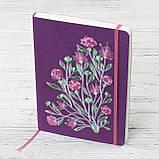 """Блокнот Ладна """"Ельфійські квіти"""" А5 фіолетовий, фото 4"""