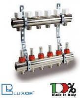 Коллекторная група Luxor с расходомерами и термо клапанами 6 выходов