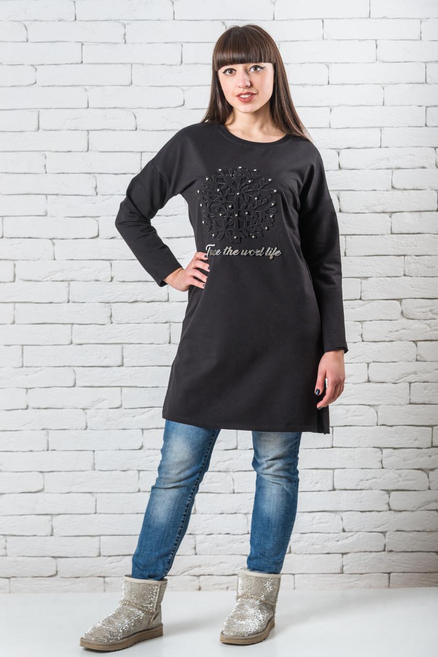 Женский свитер M-XL черный