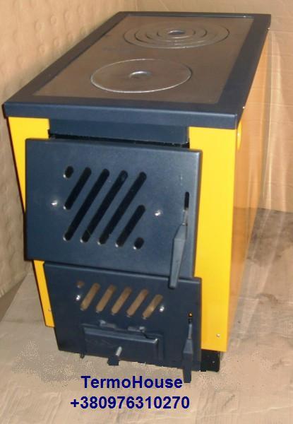 Огонёк КОТВ-17,5квт Тайга Твердотопливный котел-печь на две конфорки