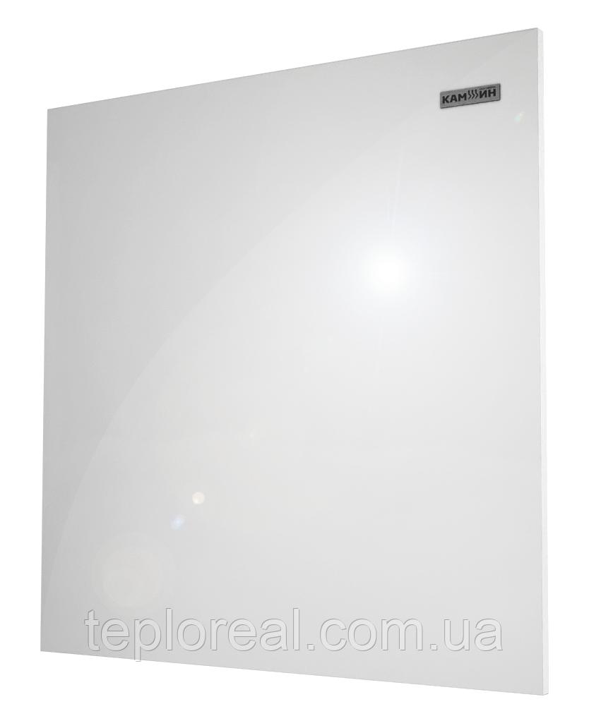 Керамическая панель обогрева белая с теморегулятором 475 Вт Камин