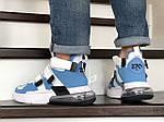 Мужские кроссовки Nike Air Force 270 (бело-голубые), фото 3