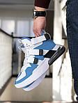 Мужские кроссовки Nike Air Force 270 (бело-голубые), фото 4