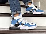 Мужские кроссовки Nike Air Force 270 (бело-голубые), фото 5