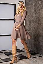 Платье на запах из плотного трикотажного полотна - стежка.