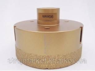 Алмазная коронка вакуумного спекания 90 мм Shdiatool (М14) УШМ