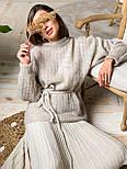 Женский стиляжный костюм: свитер  и юбка( качество  премиум)2 цвета, фото 3