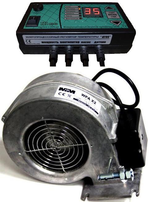 Контроллер с вентилятором для твердотопливного котла TAL RT-22