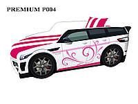 Кровать машина Премиум Land Rover розовый, фото 1