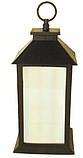 Новогодняя декоративная лампа-фонарь светильник с подсветкой HLV R28324 13x13x28 см, фото 3