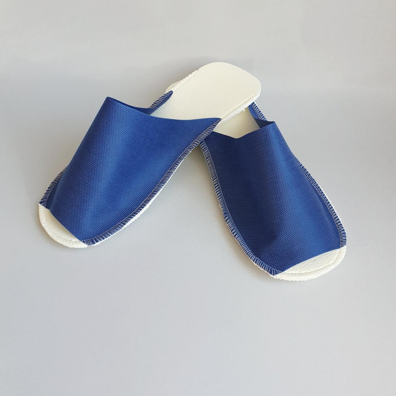 """Тапочки одноразовые для гостиниц, саун модель """"С"""" синие"""