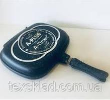 Сковорода двостороння для гриля і смаження A-PLUS 32 DOUBLE FRY PAN (FP-1502)