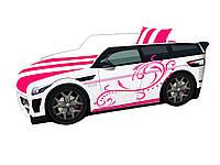 Кровать машина Премиум Land Rover розовый