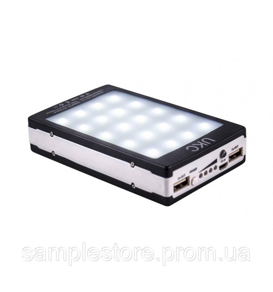 Power bank LED + Solar павер банк 90000mah (реальная емкость 8000 mAh)