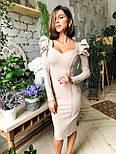 Жіноче дороге плаття по фігурі з воланами (ідеальна посадка), фото 7